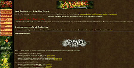 magie online shop